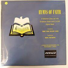 vinyl lp record HYMNS OF FAITH CSSM Trent Park College Choir 1964, B Matthews