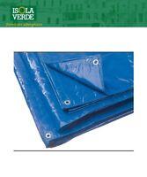 TELO TELONE BLU C/OCCHIOLI PVC LAVABILE E IMPERMEABILE RINFORZATO SUI BORDI