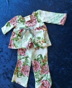 Mad Sky Boutique Baby Girl Floral Outfit Clothes Shirt Pants Flares 6-9-12 mos