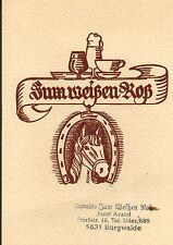 Arand, Gaststätte Zum Weißen Roß, Burgwalde b. Uder, Eichsfeld, Postkarte a. DDR