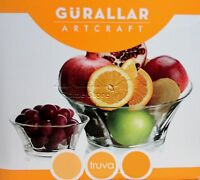 TRUVA 7pc Set of Glass Bowls Dessert Ice Cream Sundae Fruit Trifle Punch Gift
