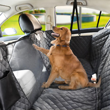 Waterproof Dog Car Seat Cover With View Mesh Pet Cat Carrier Mat For Trucks Suv