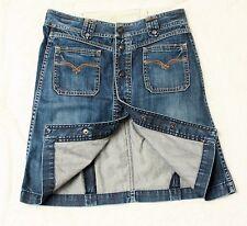 Replay Alanette A-Line Jeans Skirt Knopfleiste Denim Blau Gr 36 W 27