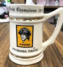 Vintage Pittsburgh Pirates World Champion 1979 Ceramic Beer Stein 12 oz