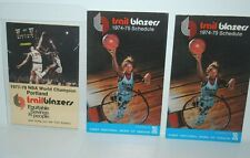 Portland Trailblazers vintage pocket schedules, lot of 3, Bill Walton