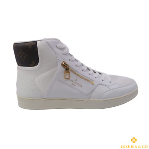 New Authentic Louis Vuitton Rivoli Sneaker Boot size 11 US / 10 LV #469K