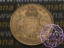 Australia 1938 George VI Florin X1, Average Circulated Condition