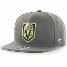 2873df407cb32 Las Vegas Golden Knights  47 Brand No Shot Adjustable Snapback Hat -  Charcoal