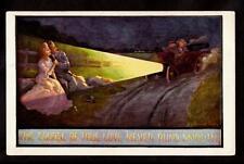 artist signed Bernhardt Wall the Course of True Love comic automobile postcard