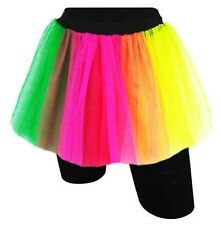 Femmes robe fantaisie RESILLE 2 Couches Tutu Jupes * RAINBOW * UK 8-16 Dance Ballroom