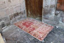 "Vintage Handmade Turkish Office Oushak Area Rug 4'5""x2'7"""