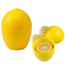 Reusable VEGGIE STORAGE CONTAINERS Fruit Keeper Box LEMON Yellow