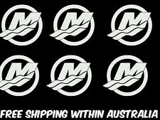 mercury outboard motor decal stickers x 6 boat trailer ute car toolbox mancave