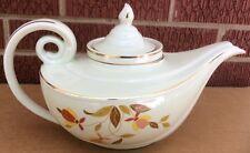 """Vintage Hall Jewel Tea Aladdin """"Autumn Leaf"""" Tea Pot with Infuser & Top"""
