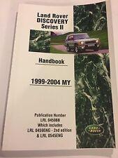 Land Rover DISCOVERY II 2 2.5L DIESEL 4.0L PET' Handbook Owners Manual 1999-2004