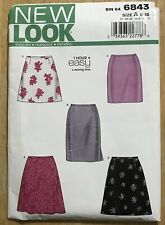NEW LOOK 1 Hour Easy SKIRT Sewing Pattern #6843 Misses' Szs 8-18 UNCUT Complete