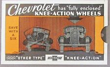 Circa 1934 CHEVROLET GINOCCHIO-ACTION ruote meccanico Lenticolare Lente ad CARD