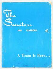 Washington Senators Vintage 1961 Official Year Book Major League Baseball Signed