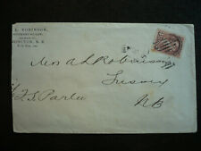 Postal History - Canada - Scott# 41 on Cover from Moncton, New Brunswick