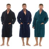 Mens Soft Cozy Fleece Dressing Gown Bathrobe Robe Dressing Gown SIZES M/L L/XL X