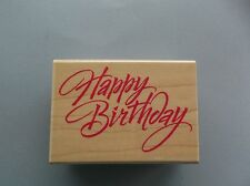 HERO ARTS RUBBER STAMPS HAPPY BIRTHDAY GREETINGS NEW wood STAMP