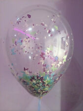 Confetti Balloons Clear Helium Quality for Weddings Birthdays Party Christenings