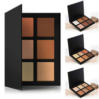 6 Colors Makeup Cosmetic Blush Bronzer Highlight & Contouring Powder Palette Hot