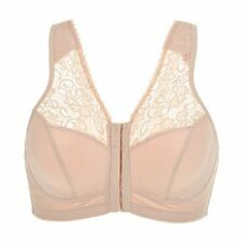 bba3351ef2ab7 LaIsla Women s Front Closure Full Coverage Wirefree Racerback Bra 36B nude