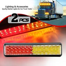 2X 12V 24V LED Tail Lights Ute Trailer Caravan Truck Boat Stop Reverse Indicator