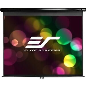 NEW Elitescreens M100UWH Manual Projection Screen 100in Diag Pulldown Scrn