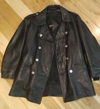 Men's Vintage Leather Philadelphia Police Jacket