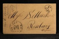 Oregon: Corvallis 1859 Stampless Cover, Early Statehood Use, Circled PAID 3