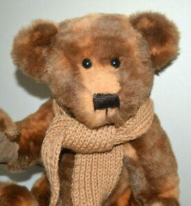 Hand made Teddy Bear - Brown Tones. Free Post.