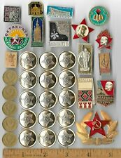 Rare Old CCCP Russia Badge Medal Pin Coin Collection Lot COLD WAR Lenin Relic N5