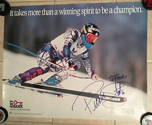 Olympic Alpine Skier Picabo Street Autographed, Signed Poster