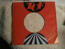 "TCF RECORDS~  ORIGINAL COMPANY SLEEVE ONLY ~ 7"" SINGLE 45 RPM"