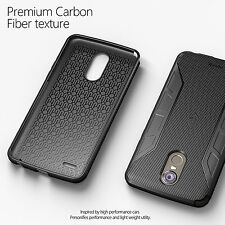 Poetic Slim Fit TPU Bumper Case w/ Carbon Fiber Texture For LG Stylo 3 Black