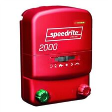 Speedrite 2000 Ac or Dc Dual Powered Electric Fence Charger 20 Mile/80 Acre