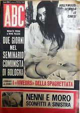 RIVISTA ABC N.44 1963 NENNI E MORO CON INSERTO A FUMETTI