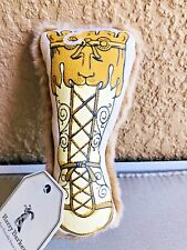 Harry Barker Empire Booty Chew Toy - Large - Gold 2 way Squeaker Dog Toy