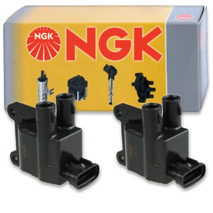 2 pcs NGK Ignition Coil for 1997-2000 Toyota Tacoma 2.4L 2.7L L4 - Spark xw