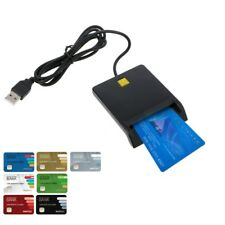 USB 2.0 Smart Card Reader Adapter EMV USB Common Access For SIM/ATM/IC/ID Black