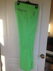 Nike McIlroy Modern Tech Woven Slim Fit Golf Pants 34x32 509737-331 Poison Green