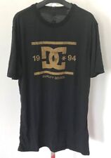 NWT DC Mens Vile First Layer S/S Crew Shirt Large Black and Gold Ag52