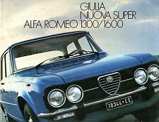 Alfa Romeo Giulia Nuova Super 1974-78 German Market Sales Brochure 1300 1600