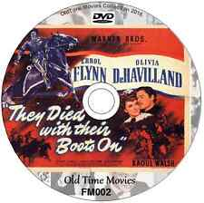 They Died With Their Boots On Errol Flynn (Custer) Olivia de Havilland 1941 DVD