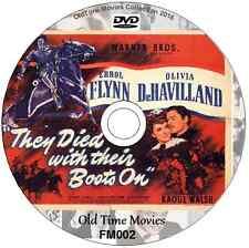 They Died With Their Boots On Errol Flynn (Custer) Olivia de Havilland 1941 DVD