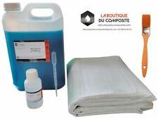 RESINE POLYESTER 5kg + 5m² de ROVING 300 + 125g catalyseur + pipette + pinceau.