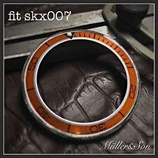 Orange 'Planet Ocean' w/silver Bezel Insert to fit Seiko 6309, 7002 & SKX007