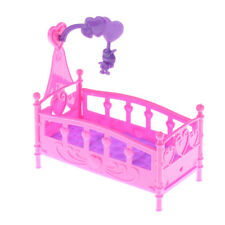10CM Baby doll play house Plastic bed barbie doll Furniture Dolls Accessoriesfwj